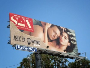 Masters of Sex season 2 showtime billboard